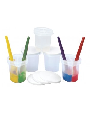 DOUBLE DIP DIVIDED PAINT CUPS 8 OZ.-SET OF 5 PC