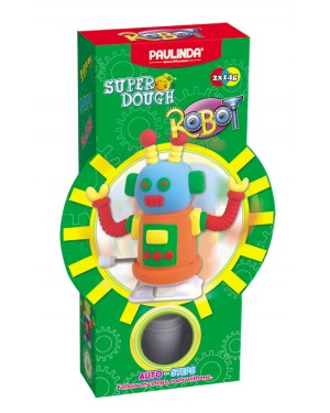 Super Dough Non Toxic - Robot 03 Orange Auto-Steps (Can Walk), 28 g. Accessories are in the box, for 3+ years old.