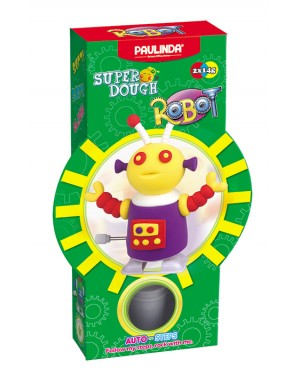 Super Dough Non Toxic - Robot 04 Purple Auto-Steps (Can Walk), 28 g. Accessories are in the box, for 3+ years old.