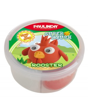 Super Dough Non Toxic - 40 g. Animal Serie.,Rooster