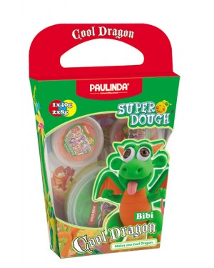 Super Dough Non Toxic - Cool Dragon, Bibi, 56 g. Accessories are in the box, for 3+ years old.