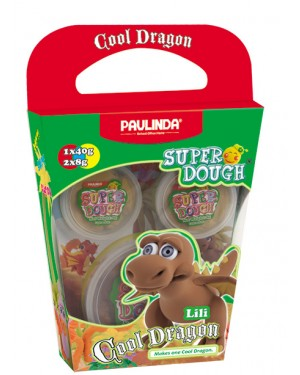 Super Dough Non Toxic - Cool Dragon, Lili, 56 g. Accessories are in the box, for 3+ years old.