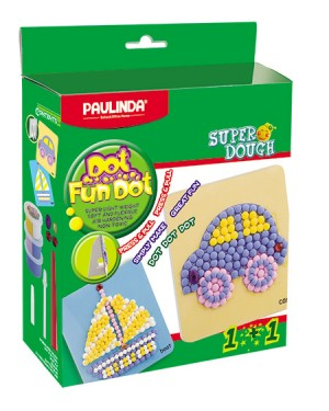 Super Dough Non Toxic - Dot Fun Dot, Car,   84 g. Accessories are in the box, for 3+ years old.