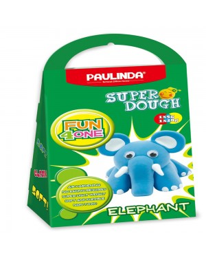Super Dough Non Toxic - Fun 4 one, Elephant, 42 g. Accessories are in the box, for 3+ years old.