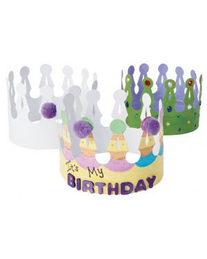 DECORATE YOUR OWN CROWNS - SET OF 24