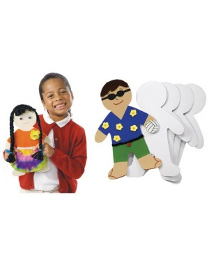 GIANT PERSON SHAPES - SET OF 24