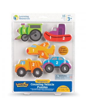 MAGNETIC VEHICLE COUNTING PUZZLES