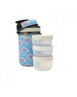 Stainless Steel Thermo Food Container 1.5 L+ Neo Cover - Blue