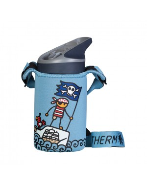 Stainless Steel Thermo Bottle Blue - Pirate