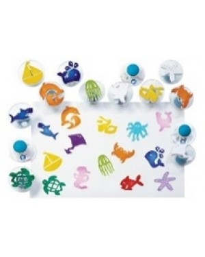 EASY-GRIP STAMPERS-SEA LIFE -14 PC