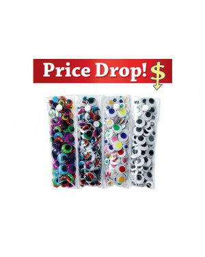 Easy Storage Wiggly Eye Pack - 500 Pieces