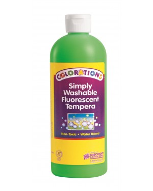 SIMP WASH FLUORESCENT TEMP 16 OZ GREEN