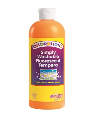 SIMP WASH FLUORESCENT TEMP 16 OZ ORANGE