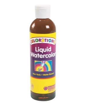 LIQUID WATERCOLOR 8 OZ BROWN