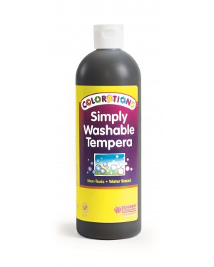 SIMPLY WASHABLE TEMPERA 16OZ BLACK