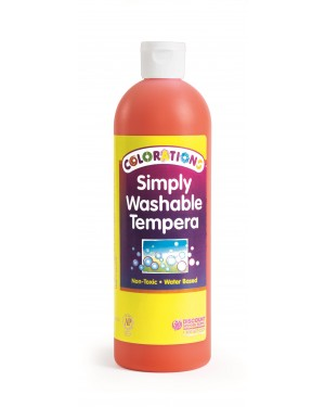 SIMPLY WASHABLE TEMPERA 16OZ ORANGE