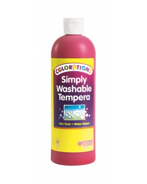 SIMPLY WASHABLE TEMPERA 16OZ RED