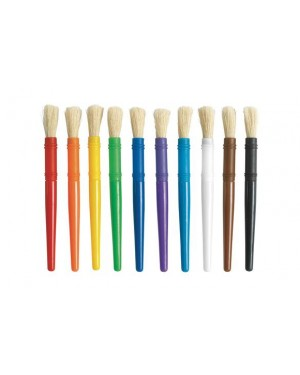 PLASTIC CHUBBY BRUSHES - SET OF 10