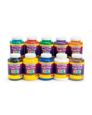 Colorations Washable Fingerpaint 16 OZ - Brown