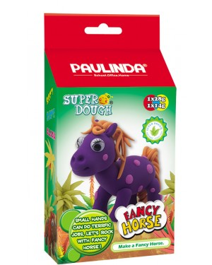 Super Dough Non Toxic - Fancy Horse 04 Purple, 42 g. Accessories are in the box, for 3+ years old.