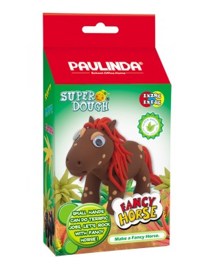 Super Dough Non Toxic - Fancy Horse 05 Brown, 42 g. Accessories are in the box, for 3+ years old.