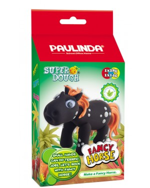 Super Dough Non Toxic - Fancy Horse 06 Black, 42 g. Accessories are in the box, for 3+ years old.