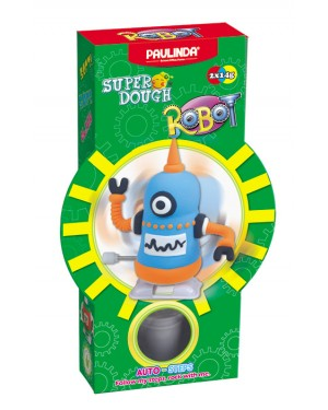 Super Dough Non Toxic - Robot 06 Black Auto-Steps (Can Walk), 28 g. Accessories are in the box, for 3+ years old.