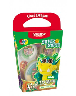 Super Dough Non Toxic - Cool Dragon, Didi, 56 g. Accessories are in the box, for 3+ years old.