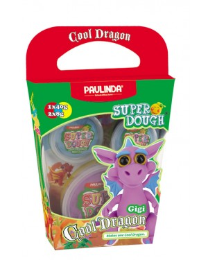 Super Dough Non Toxic - Cool Dragon, Gigi, 56 g. Accessories are in the box, for 3+ years old.
