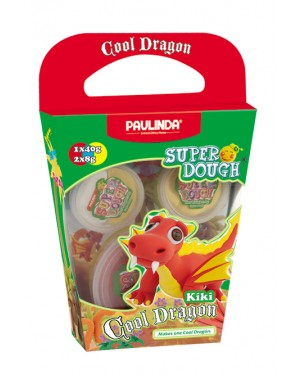 Super Dough Non Toxic - Cool Dragon, Kiki, 56 g. Accessories are in the box, for 3+ years old.