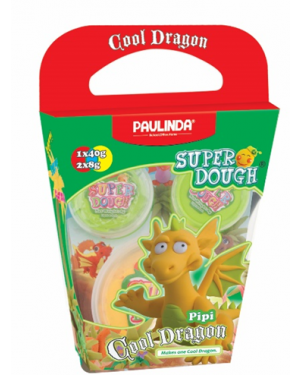 Super Dough Non Toxic - Cool Dragon, Pipi, 56 g. Accessories are in the box, for 3+ years old.