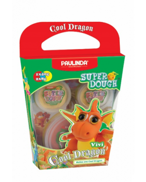 Super Dough Non Toxic - Cool Dragon, Vivi, 56 g. Accessories are in the box, for 3+ years old.