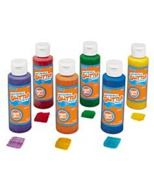 Washable Glitter Tempera Paint - 6-Color Set - 4 Ounces
