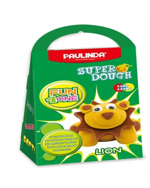 Super Dough Non Toxic - Fun 4 one, Lion, 42 g. Accessories are in the box, for 3+ years old.