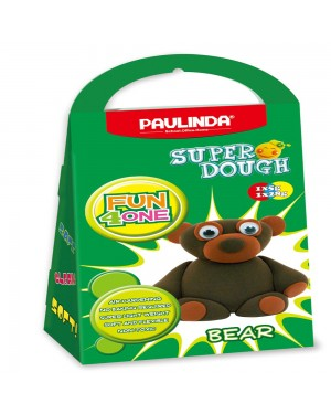 Super Dough Non Toxic - Fun 4 one, Bear, 42 g. Accessories are in the box, for 3+ years old.