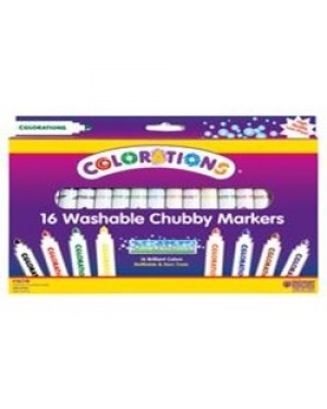 COLORATIONS 16 WASH CHUBBY MARKERS