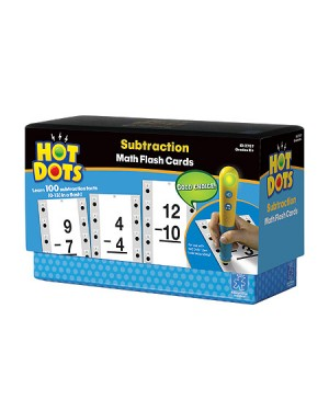 SUBTRACTION HOT DOTS FLASH CARDS