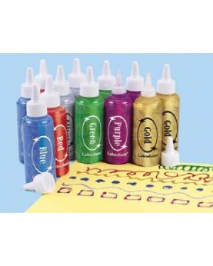 Lakeshore Jumbo Glitter Painters - 12-Bottle Set