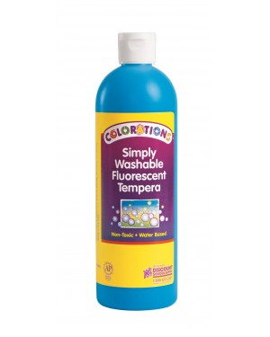 SIMP WASH FLUORESCENT TEMP 16 OZ  BLUE