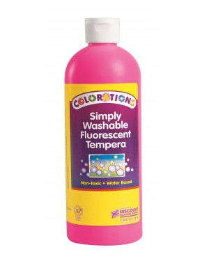 Simply Washable Fluorescent Tempera     16 OZ - Pink