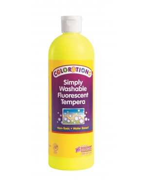 SIMP WASH FLUORESCENT TEMP 16 OZ YELLOW