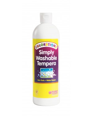 SIMPLY WASHABLE TEMPERA 16OZ WHITE