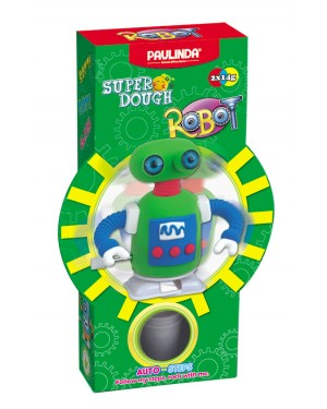 Super Dough Non Toxic - Robot 05 Brown Auto-Steps (Can Walk), 28 g. Accessories are in the box, for 3+ years old.