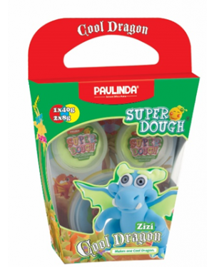 Super Dough Non Toxic - Cool Dragon, Zizi, 56 g. Accessories are in the box, for 3+ years old.