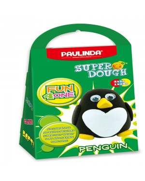 Super Dough Non Toxic - Fun 4 one, Penguin, 42 g. Accessories are in the box, for 3+ years old.