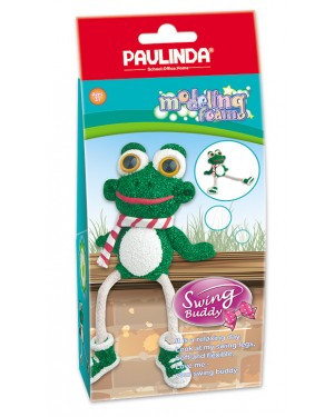 Modeling Foam Non Toxic - Swing Legs, Frog 100 ml. Accessories are in the box, for 3+ years old