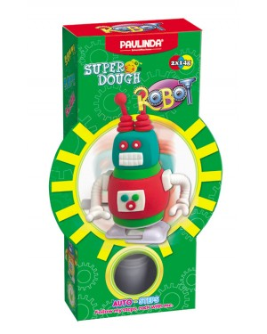 Super Dough Non Toxic - Robot 01 RED Auto-Steps (Can Walk), 28 g. Accessories are in the box, for 3+ years old.