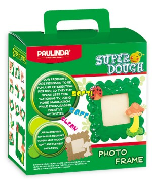 Super Dough Non Toxic- Photo Frame, 40 g. Accessories (Photo Frame, Glitter Glue,Moving Eyes,Crafting Tools, Doughs) are in the box, for 3+ years old.