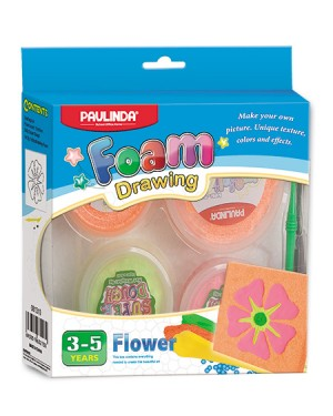 Foam drawing - Hawaii Flower size 15x15 cm Non Toxic. Accessories are in the box, for 3+ years old
