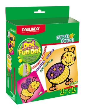 Super Dough Non Toxic - Dot Fun Dot, Lady Bird,   84 g. Accessories are in the box, for 3+ years old.